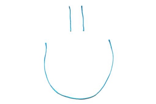 Lächeln Smiley Faden Comisch